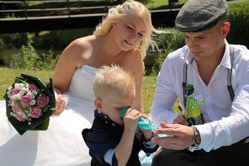 Mariage d'une famille recomposée